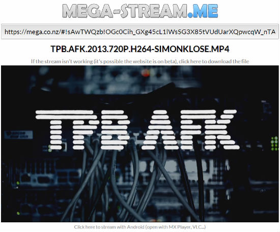mega-stream me – A player videos stored on MEGA – phoneia