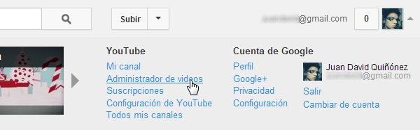 administrador de videos youtube