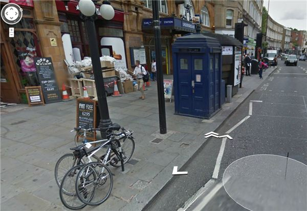 tardis  a cabine do doctor who  est u00e1 no google maps