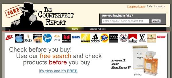 encontrar falsificaciones productos