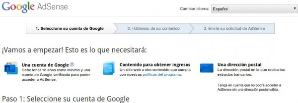 google adsense proceso
