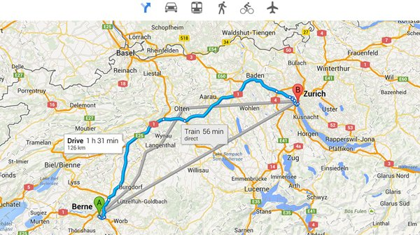 rutas google maps