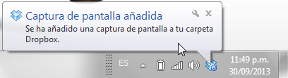 notificacion screenshot dropbox