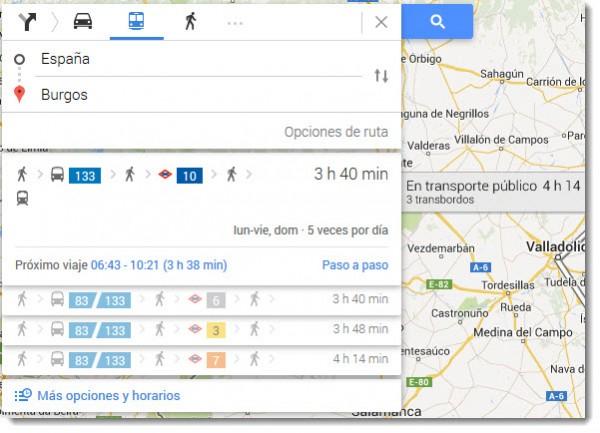 Transporte Google Maps
