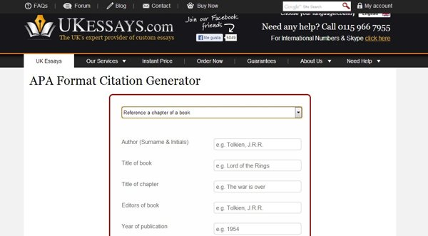 APA Citation Generator