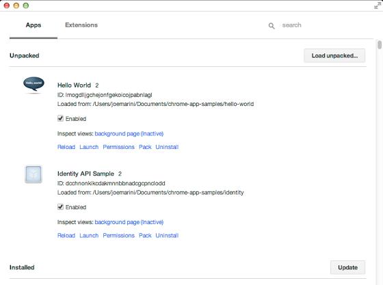 Chrome Apps Developer Too
