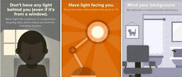 infografia webcam look