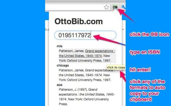 ottobib extension