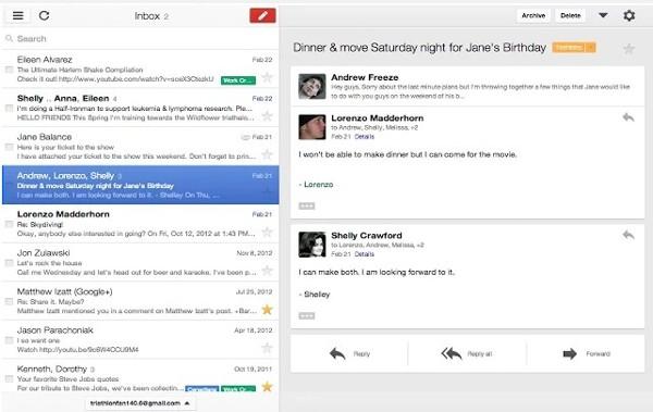 5 gmail offline