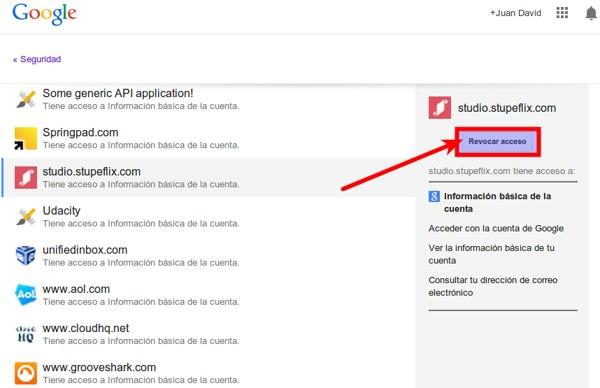 Google plus permisos aplicaciones 2