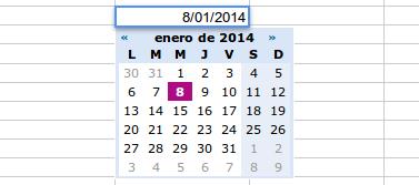 fechas calendario drive