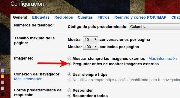 gmail mostrar imagenes recibidas