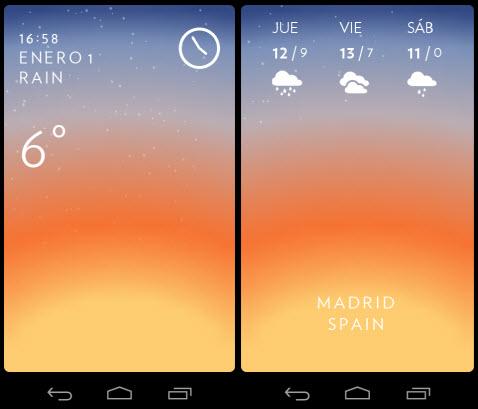 Solar la bonita y minimalista aplicaci n del clima ya for Aplicacion del clima