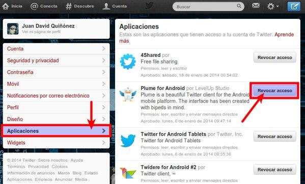 twitter permisos aplicaciones 1