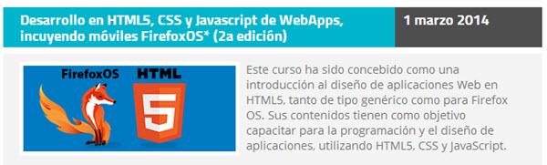 Desarrollo en HTML5, CSS y Javascript