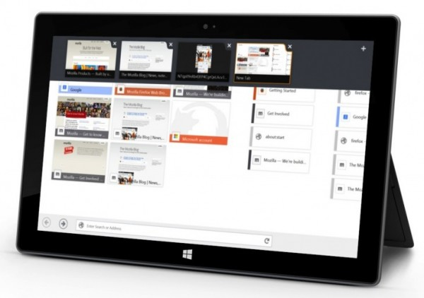 Firefox Beta Windows 8 Touch