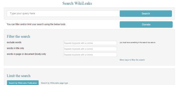Buscador de WikiLeaks