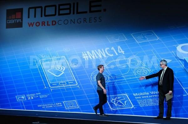 Mark Zuckerberg en el Mobile World Congress 2014