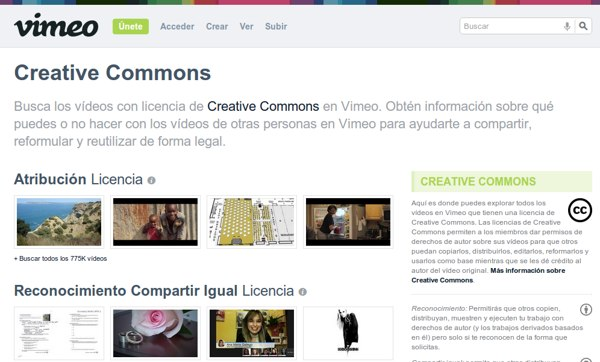 Vimeo Creative Commons