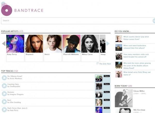 bandtrace.com