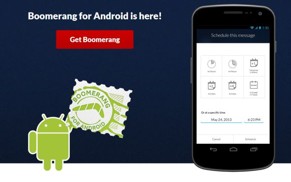 Boomerang for Android