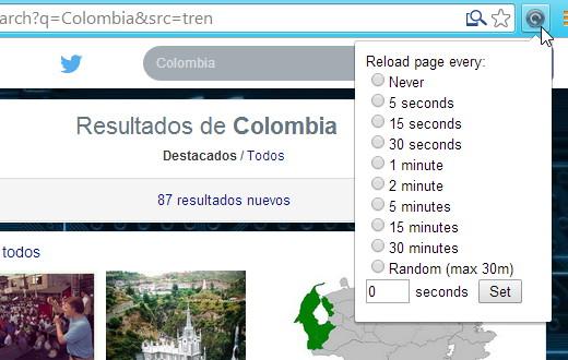 Chrome reload recargar pagina web f5