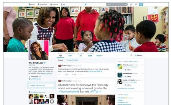 perfil twitter michelle obama