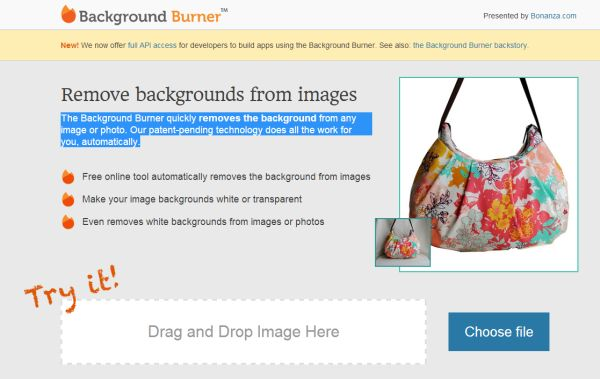 Background Burner nos permite eliminar los fondos de ...