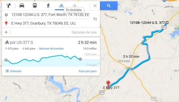 rutas bici elevacion google maps
