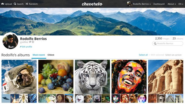 chevereto hosting imagenes