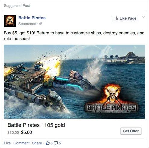 facebook anuncios compras newsfeed