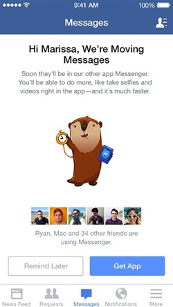 facebook messenger aviso eliminacion chat