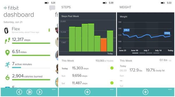 fitbit para windows phone