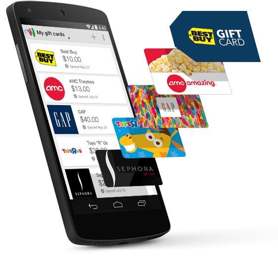 giftcards google wallet debit card