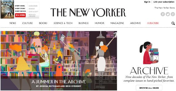 the new yorker archivo online