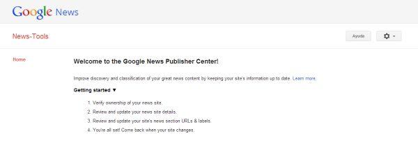 Google News Publiser Center