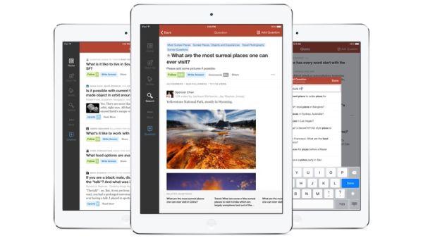 Quora para iPad