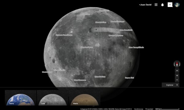 luna marte google maps