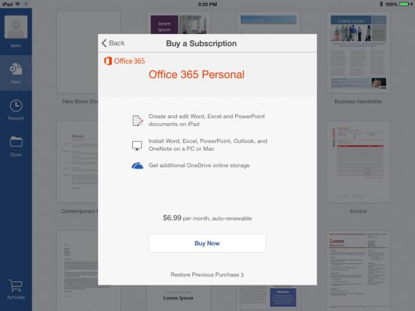 Suscripción a Office 365