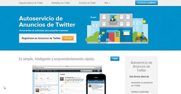 autoservicio anuncios twitter latinoamerica