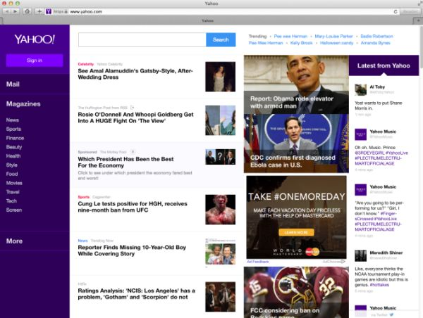 Yahoo Test