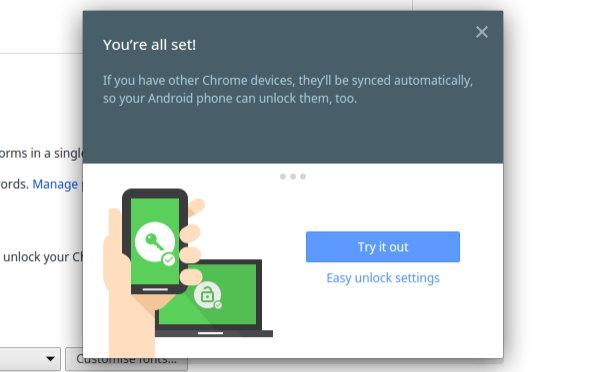 easy unlock desbloquear chrome os con android