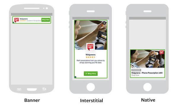 Formatos publicitarios de Audience Network