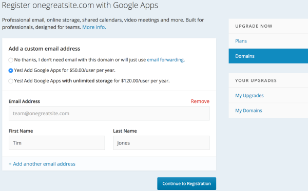 google apps wordpress.com