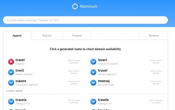 Una nueva web para encontrar el nombre de nuestro próximo proyecto