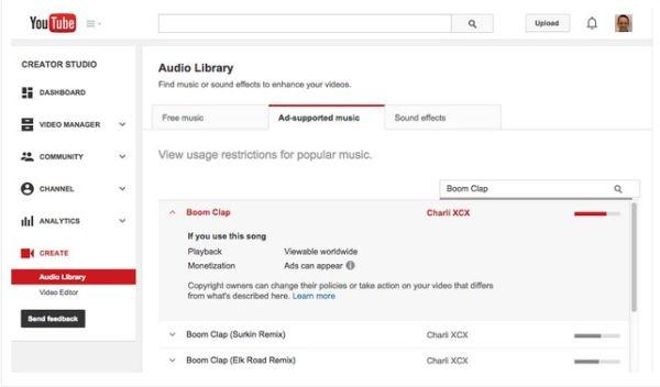 Librería de Audio de YouTube
