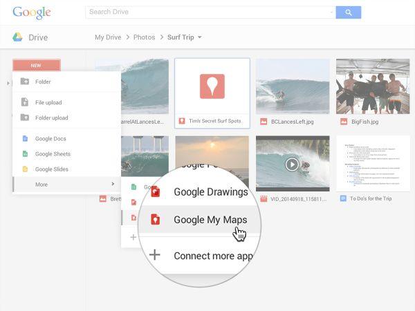 Google My Maps desde Google Drive