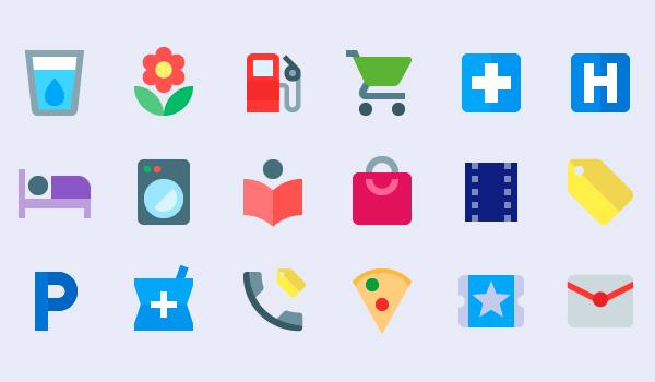 Iconos Google material color