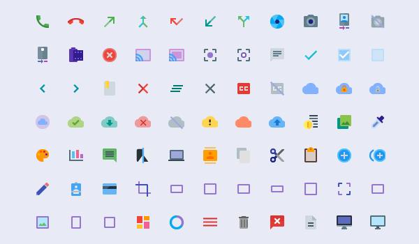 Material Design Icons Paleta De Colores Web