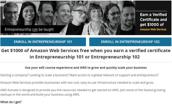 amazon web services credito
